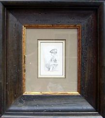 Original Rembrandt Sketch in an aged Italian wood frame