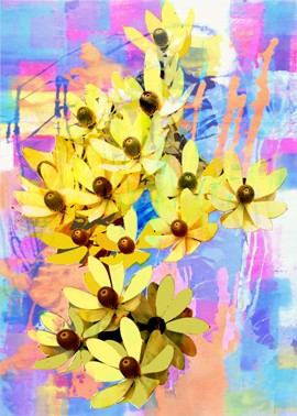 Bright colours of Australian flora, Yellow Protea by Jan Neil, modern art, Print Decor Melbourne