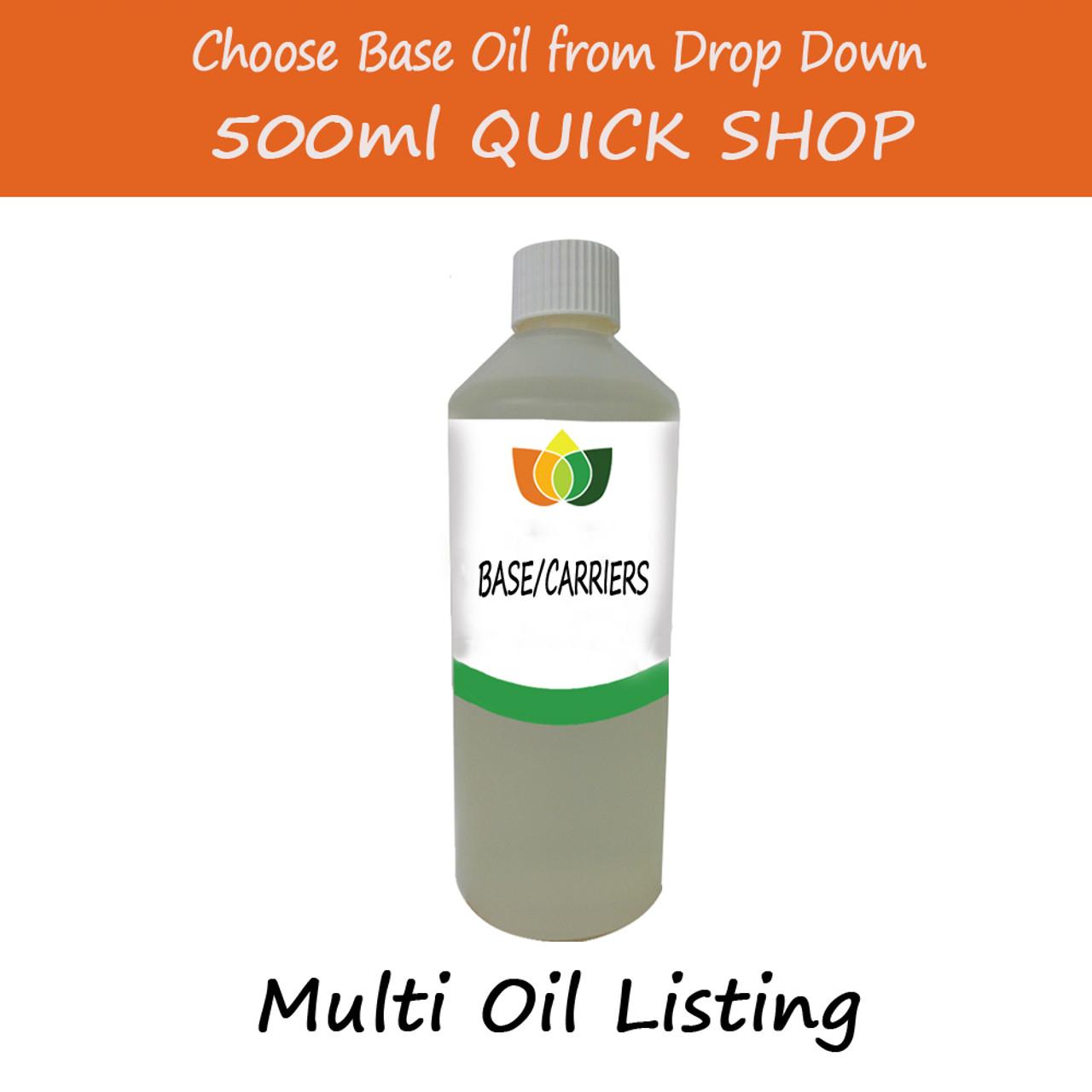 500ml Base/Carrier Massage Oil - Choose Variety Refined Virgin & Unrefined