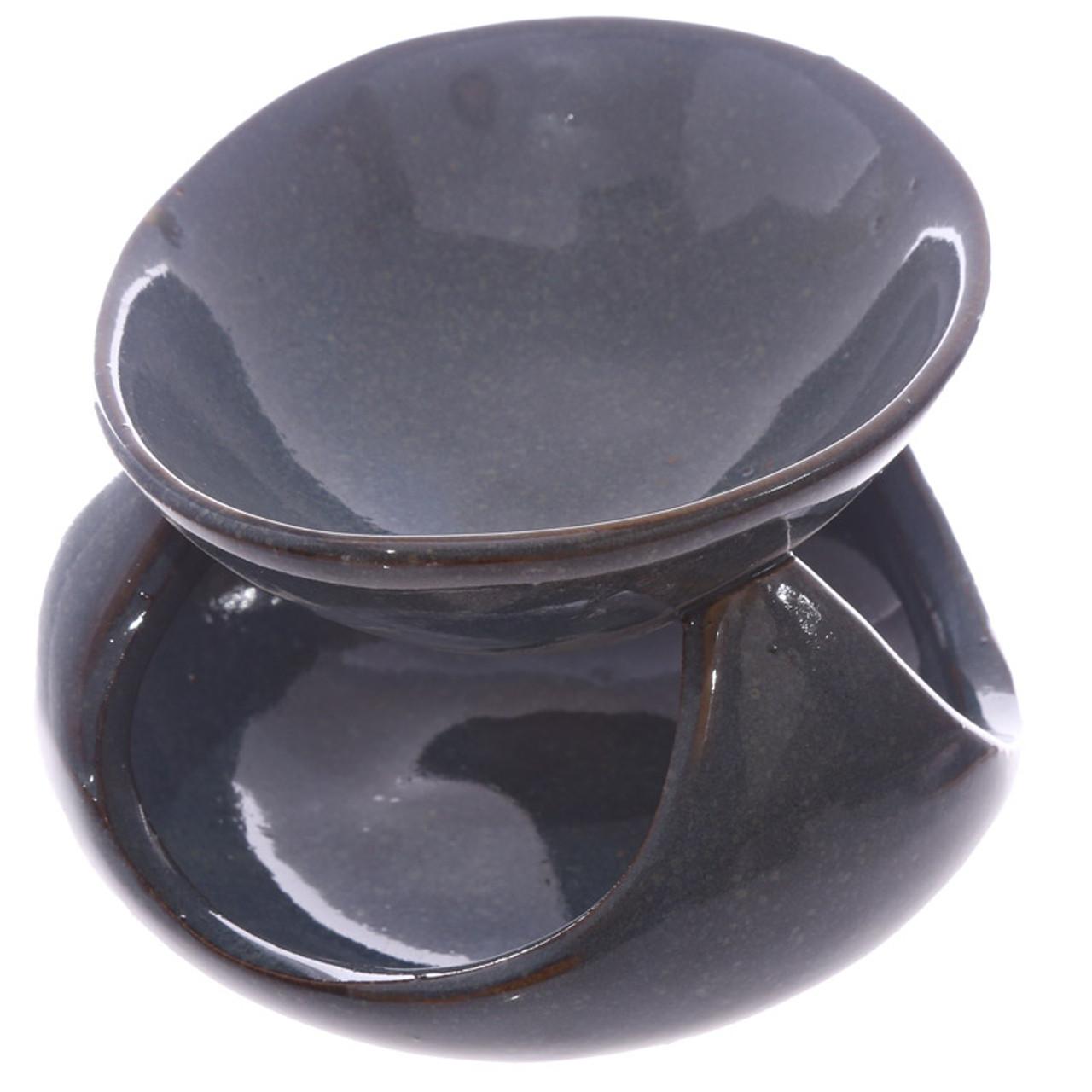 Abstract Deep Blue Ceramic Oil Burner