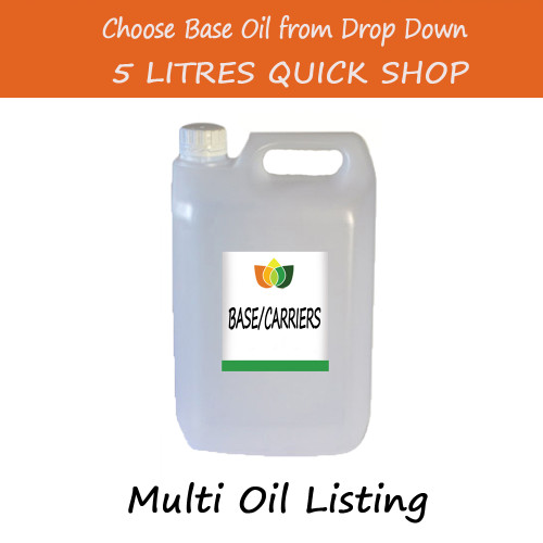 5 Litre Base/Carrier Massage Oil - Choose Variety Refined Virgin & Unrefined