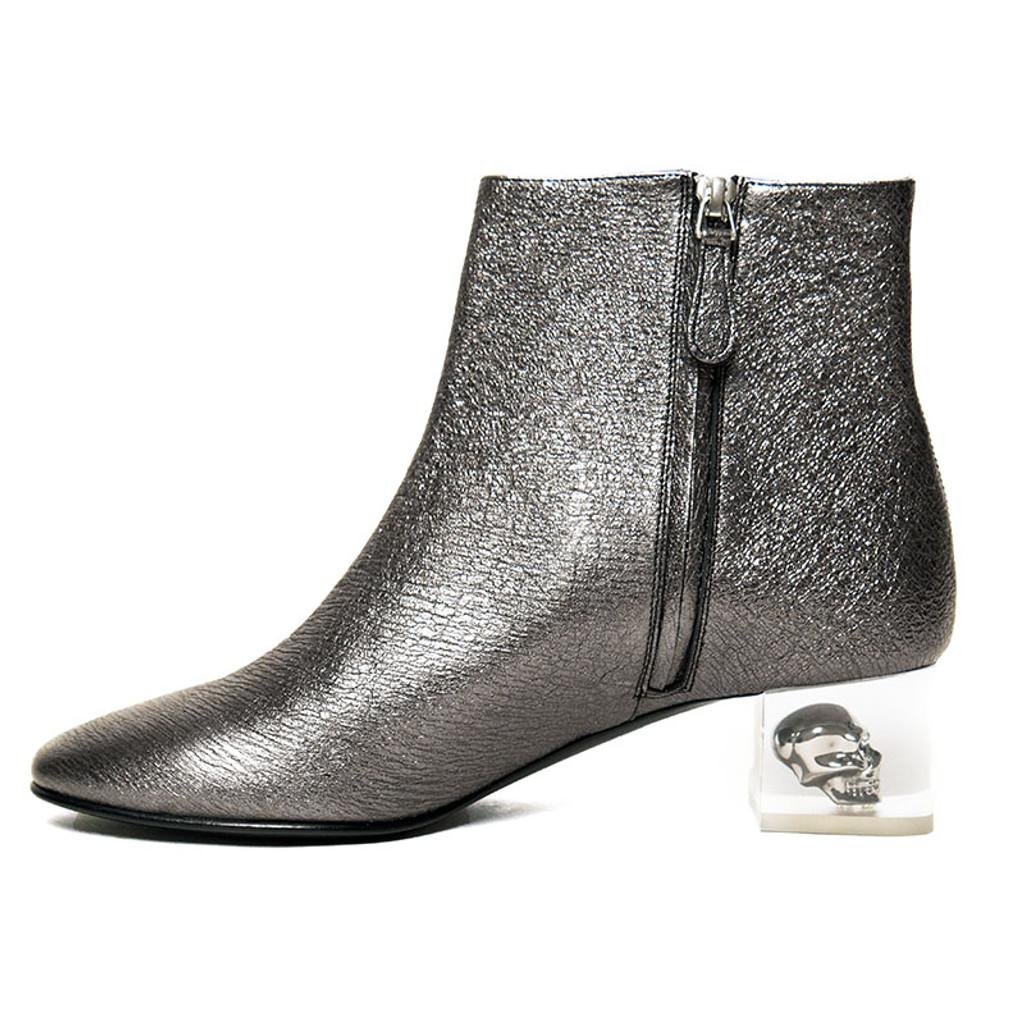 Metallic Lucite Skull Boot