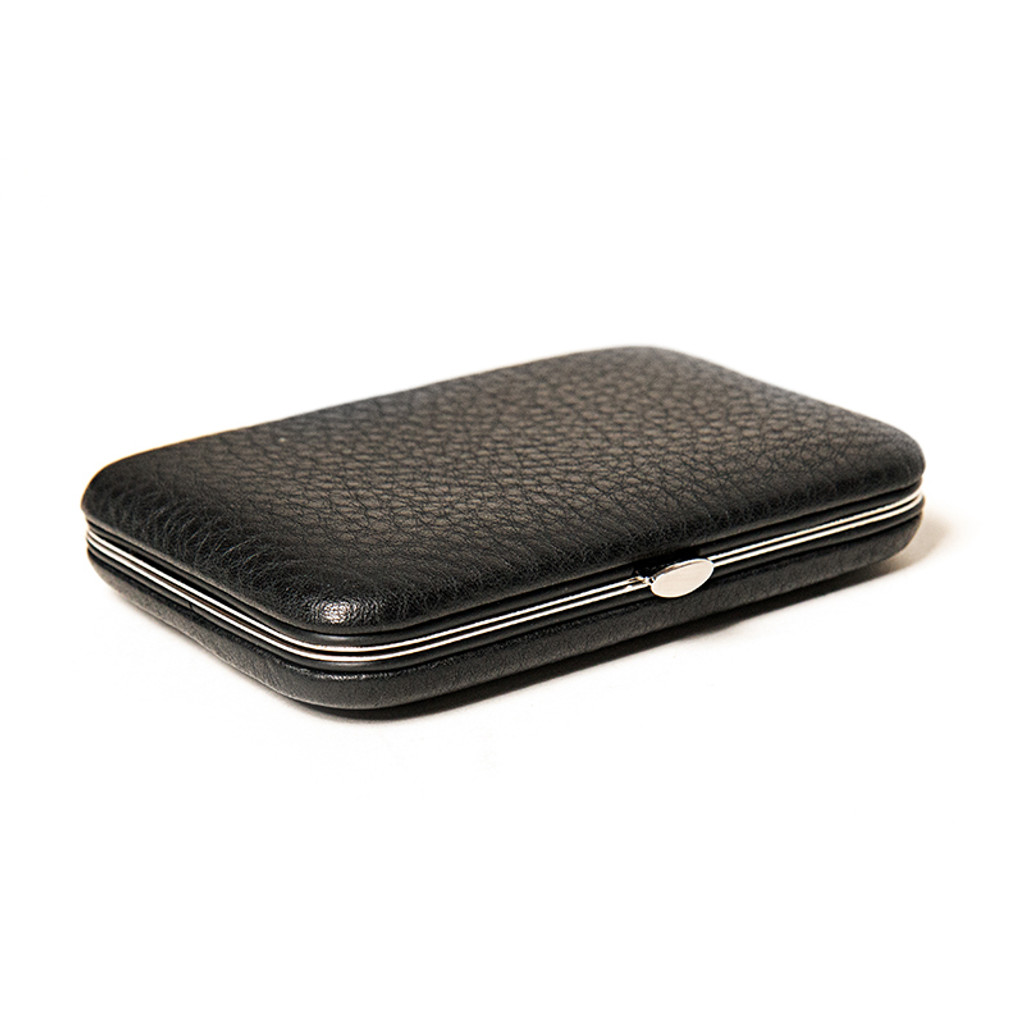 leather business card holder click here to enlarge - Leather Business Card Holder