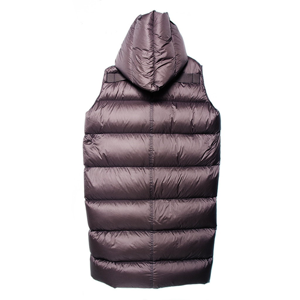 Puff Puff Long Hooded Vest