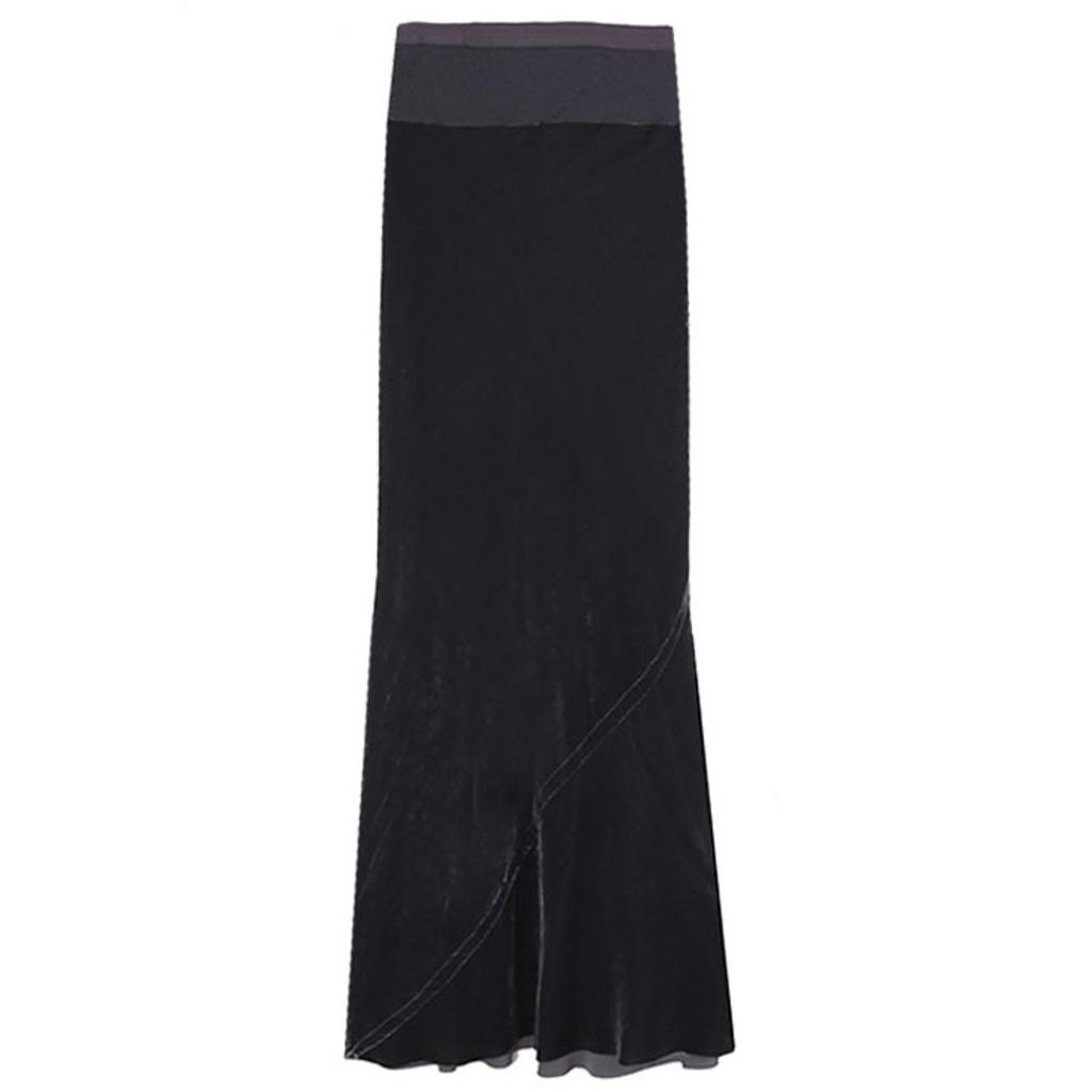 Plum Velvet Mermaid Skirt