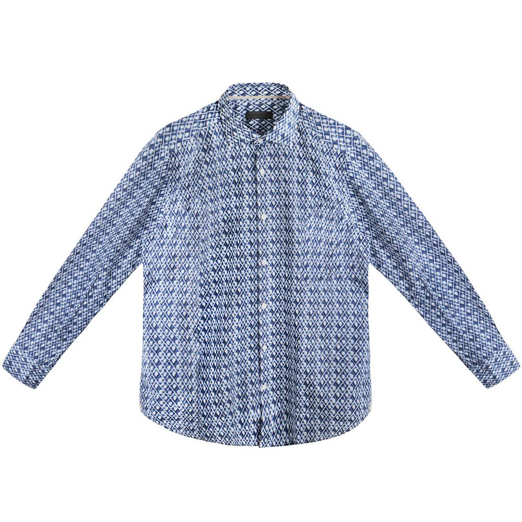 Blue Diamond Ikat Shirt