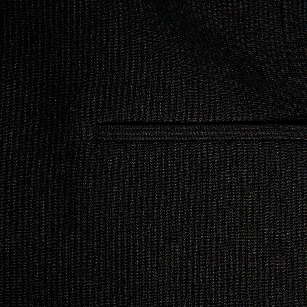 Black Corded Sponged Fabric Jacket