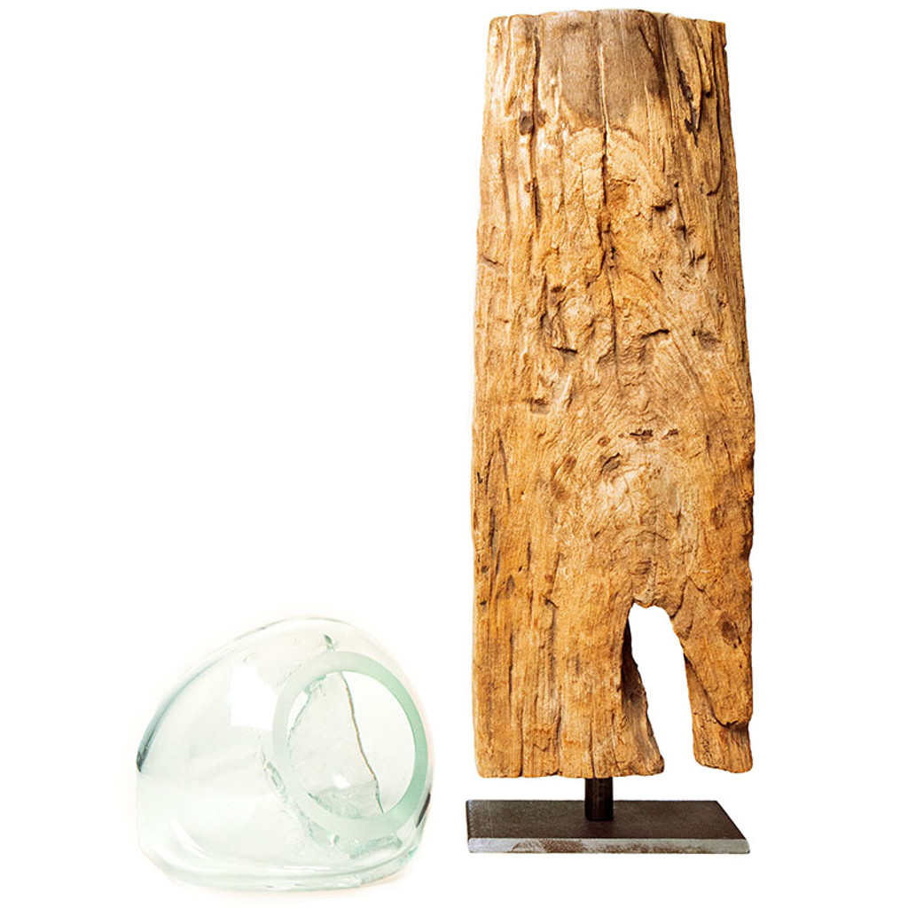 Driftwood & Glass Vase Stand