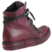 Handmade Bordeaux Leather Hi-Top