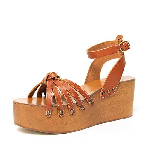 Tan Wooden Wedge
