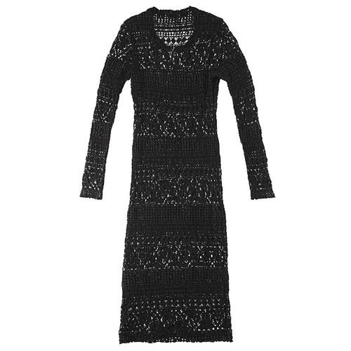 Black Lace Contour Dress