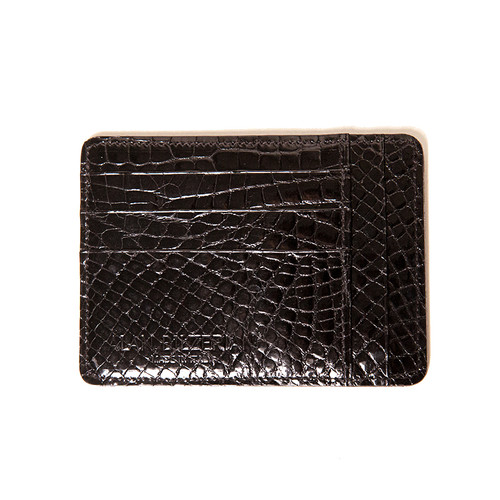 Black Alligator Card Wallet