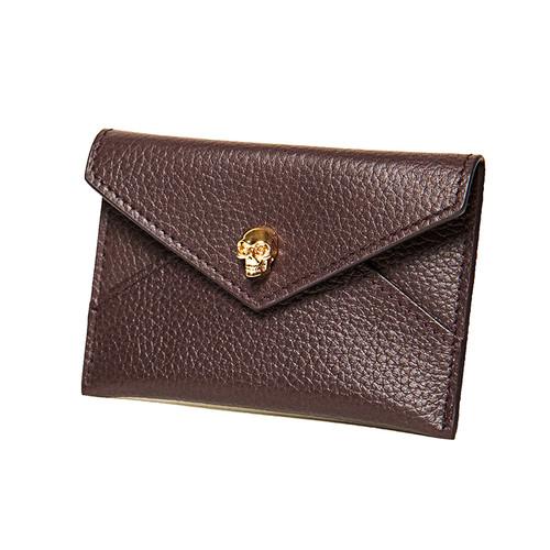 Burgundy Envelope Card Case