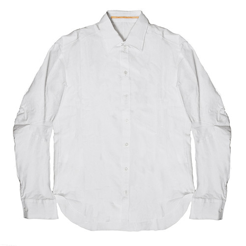 White 'Rain' Collared Shirt