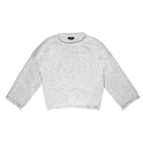 Farley Crewneck Frayed Sweater