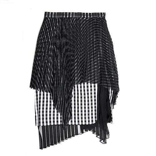 Triple-Layer Optical Textured Skirt