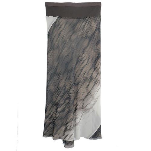 Glacier Print Column Skirt