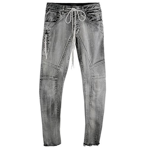 B & W Discharge Print Jeans