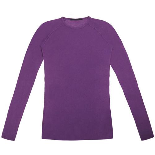 Purple Ribbed Long Sleeve Tee