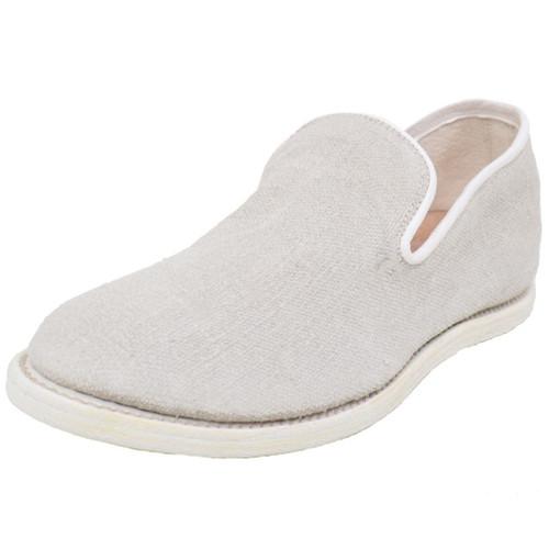 White Linen Slip On