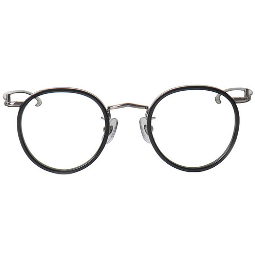 Black Rim Silver Frame Glasses