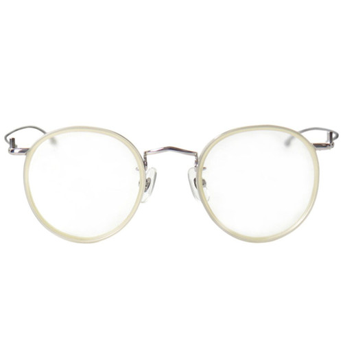 White Rim Silver Frame Glasses