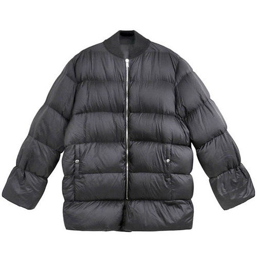 Black Oversized Quilted Down Parka