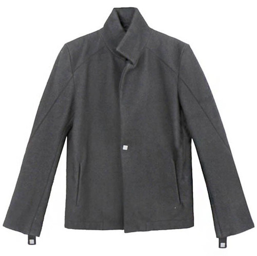 Black Notch Collar Wool Blazer