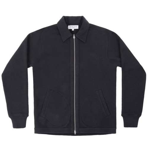 Black Cotton Zip Up Jacket