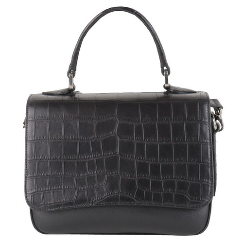 Black Alligator & Leather Purse