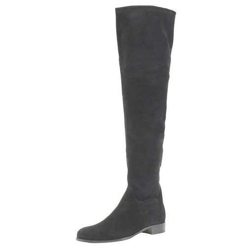 Black Suede Tall Boot