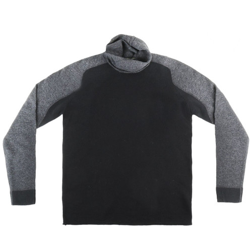 Black and Gray Turtleneck Sweater