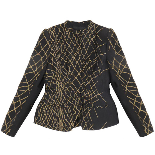 Fitted Jacket with Gold Embroidery