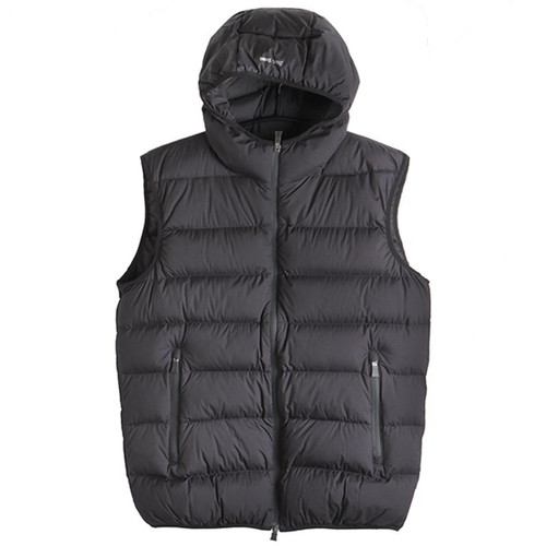 Lightweight Black Hooded Vest
