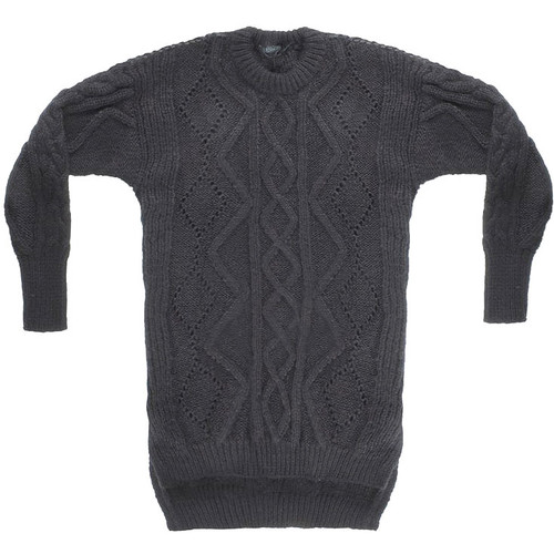 Charcoal Mohair Cable Sweater