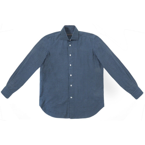 Green & Grey Check Flannel Shirt