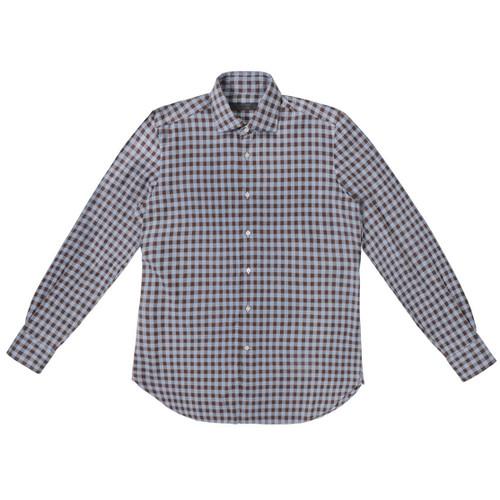 Sky Blue & Dune Checkered Flannel Shirt