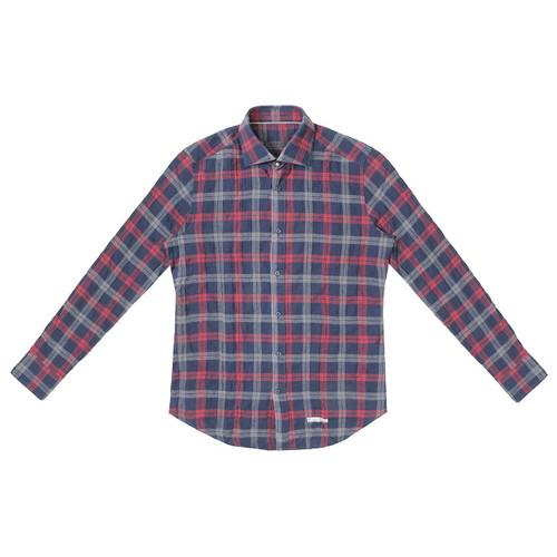 Red & Navy Plaid Shirt