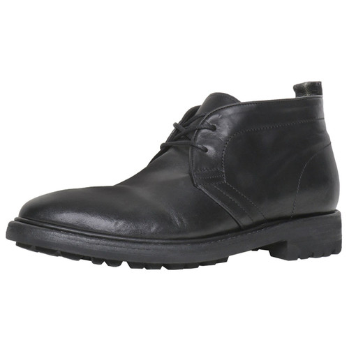 Black Leather Desert Boot