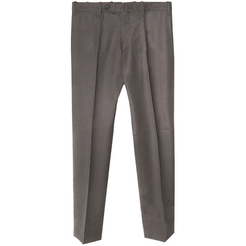 Brown Slim Fit Flannel Trousers