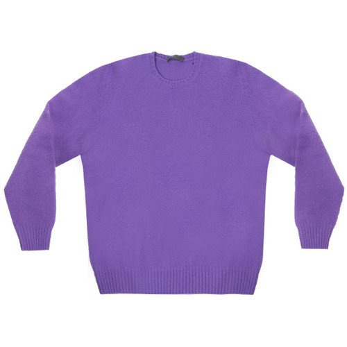 Purple Geelong Lambswool Crewneck Sweater