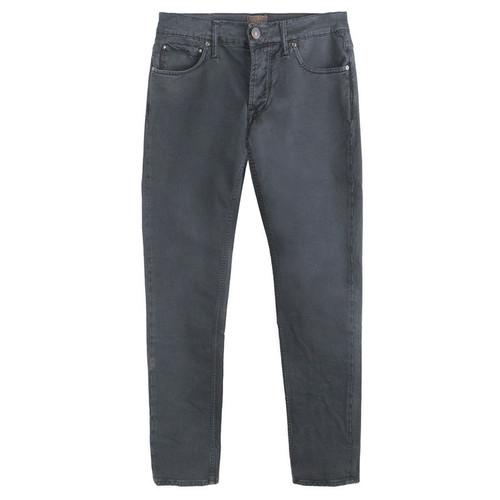 Black Five Pocket Twill Jeans