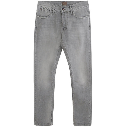 Faded Grey Five Pocket Twill Jeans