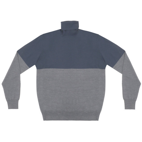 Navy & Grey Colorblock Turtleneck