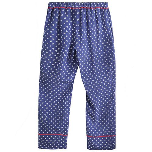 Blue Printed Silk Pant