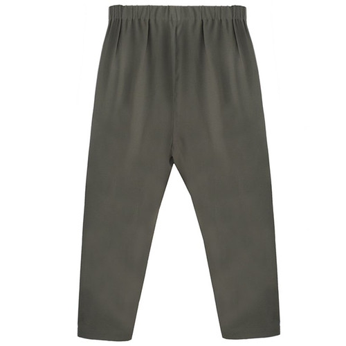Dark Olive Cropped Trouser