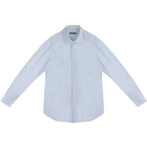 Light Blue Linen Look Shirt
