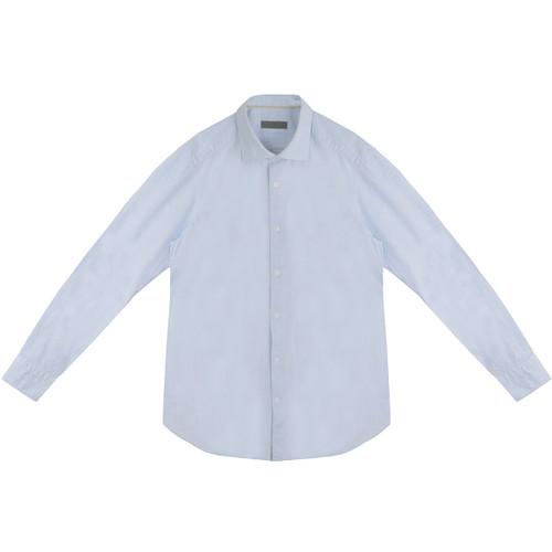 Light Blue Linen Look Shirt