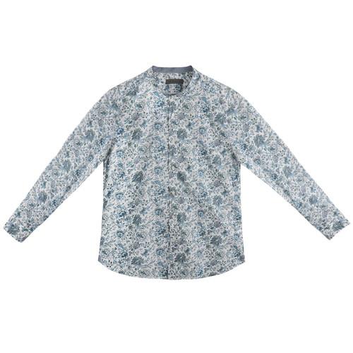 Blue & Violet Floral Shirt