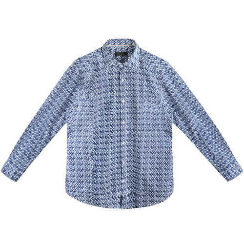 Blue Diamond Ikat Shirt
